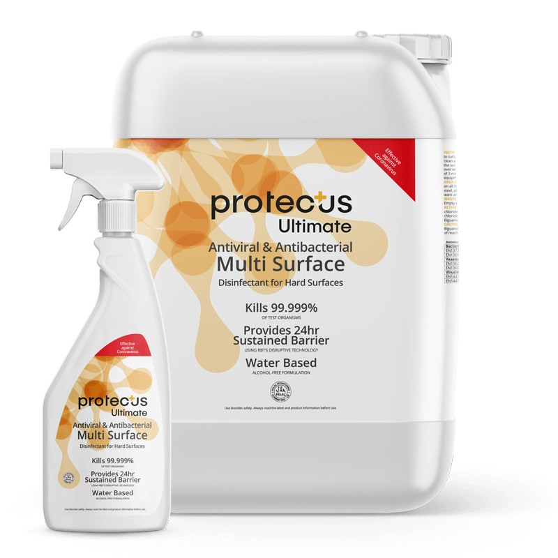 Protectus Ultimate Disinfectant 750ml and 5L Multi Surface Trigger Spray